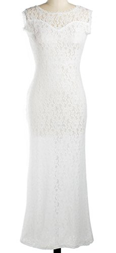 Metup Backless Sexy V-neck Lace Crochet Strap Cocktail Pa...