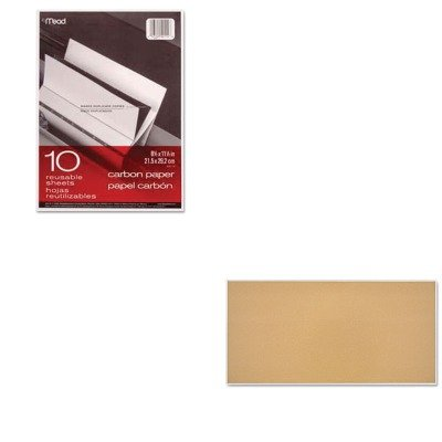 KITMEA40114MEA85364 - Value Kit - Quartet Cork Bulletin Board (MEA85364) and Mead Black Carbon Mill Finish Paper (MEA40114) by Quartet (Image #1)