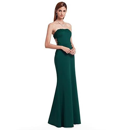 Top Ever-Pretty Women's Elegant Lace Strapless Off-Shoulder Floor-Length Evening Dresses Party Dress Christmas Dress 07187 free shipping