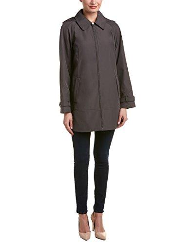 Jones New York Womens Swing Raincoat, L, Grey