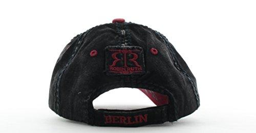 Talla de Ruth Hombre Robin Gorra Negro Negro única para béisbol v8Anaxnwq