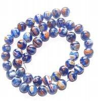 M16 10mm Millefiori Lampwork Beads, 10mm Many Flower -