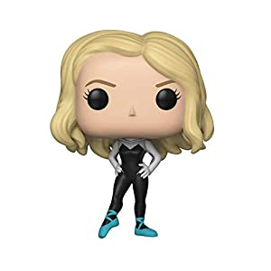 31Cy1Z3V94L. SS300 Funko Pop Marvel: Animated Spider-Man Movie - Spider-Gwen Collectible Figure, Multicolor