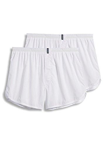 Jockey Classic Boxers - Jockey Men's Underwear Tapered Boxer - 2 Pack, White, M