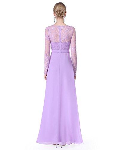 08692 Pretty Abendkleid Lavendel Langarm Elegant Ever Damen Maxikleider wd8pwYq