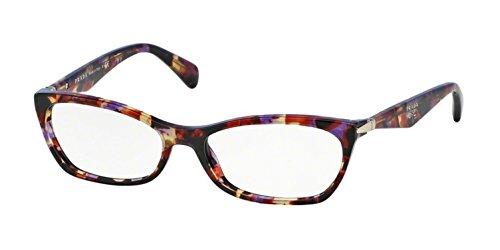 New Prada Eyeglasses Frames - Prada PR15PV Eyeglass Frames PDN1O1-53 - Spotted Violet Havana PR15PV-PDN1O1-53