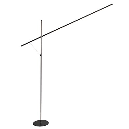 Brightech – Sparq LED Floor Lamp – Linear Edition – Minimalist Design with Sci-Fi Lightsaber Look – Built-in Dimmer – 126 Embedded LED Lights draw an Energy-Saving 16 Watts – Jet Black