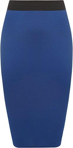 taille 54 Femmes Royal Bleu Grande WearAll genou jupe longueur 44 Tailles Jupes lastiqu wvg5q0x5p