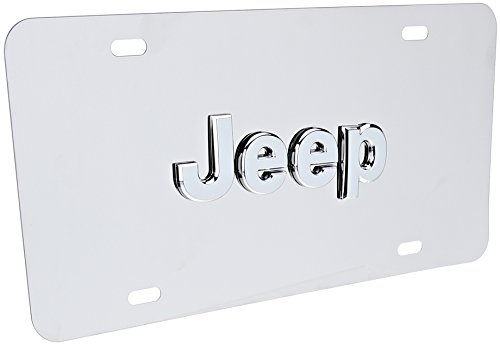 Pilot Automotive LP-130 Stainless Steel 3-D License Plate (ABS Plastic Decal, Officially Licensed Jeep)