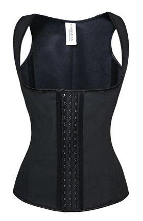 83858f874ef Charmian Women s Latex Underbust Waist Training Cincher Steel Boned Body  Shaper Corset Vest Vest-Black