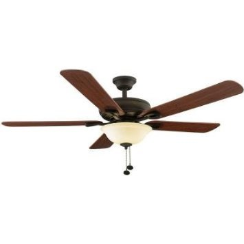 Rothley 52 Inch Indoor Oil-Rubbed Bronze Ceiling Fan For Sale