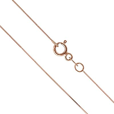 14K Solid Rose Gold Box Chain Necklace by Honolulu Jewelry Company