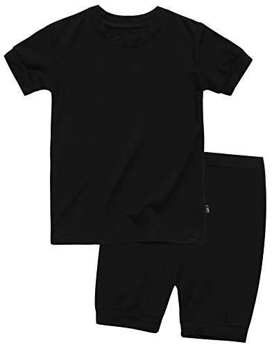 Boys Short Sleeve Sleepwear Pajamas 2pcs Set Short Colorful Black M Boy Black Pjs Pajamas