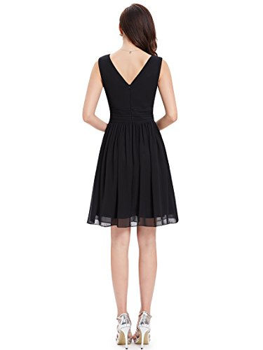 03989 de Pretty Clásico en Corto Negro para Escote Vestido Ever Noche V Mujer xPTwEEf
