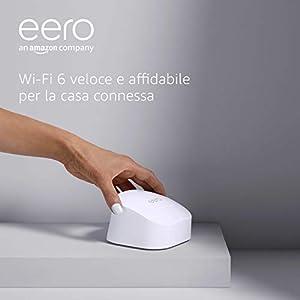 Nuovo sistema Wi-Fi 6 mesh dual-band Amazon eero 6, con hub per Casa Intelligente Zigbee integrato   Kit da 1 pezzo