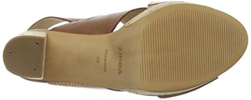 Zinda 2085 - Sandalias de Plataforma Mujer Marrón
