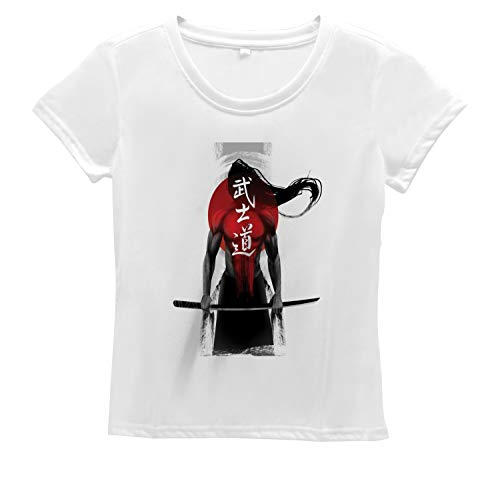 Sunburst Short Sleeve Top - Lunarable Japanese Women's T Shirt, Sunburst Lines with Figure, Short Sleeve Top