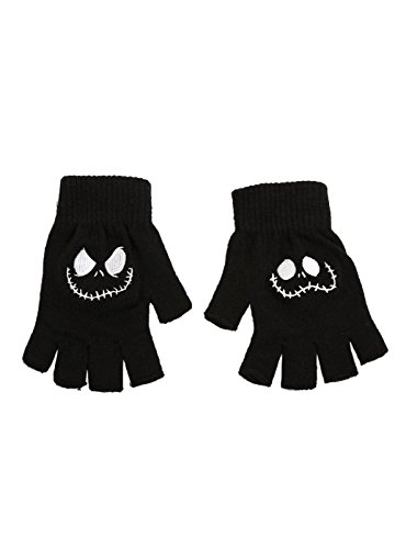 The Nightmare Before Christmas Jack Face Fingerless (Nightmare Before Christmas Gloves)