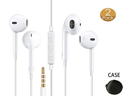 6ae6d7d6c2f THE Electronics Standard 3.5MM Premium Earphone/Earbuds w/ Mic, Remote and  Carrying