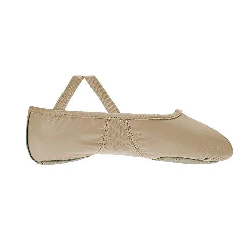 Ballet Split cuir Shoes Sole Flexi Starlite Sole de en Rose aqgxwR