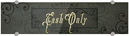 Victorian Frame Premium Acrylic Sign 5-Pack Cash Only 24x6 CGSignLab