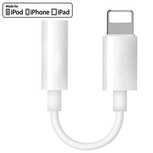 [Apple MFi Certified] Headphone Adapter for iPhone,Lightning to 3.5mm Headphone Audio Aux Stereo Connector Compatible for iPhone 11/11 Pro/XS/XR/X10 8 7,iPad,iPod,Support Music Control & Calling