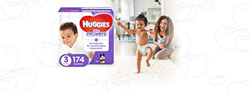 Large Product Image of HUGGIES LITTLE MOVERS Active Baby Diapers, Size 3 (fits 16-28 lb.), 174 Ct, ECONOMY PLUS (Packaging May Vary)