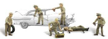 Woodland Scenics HO Scale Scenic Accents Service Station Attendants by Woodland Scenics