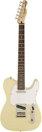 Squier Standard Telecaster Electric Guitar Vintage Blonde Rosewood ()