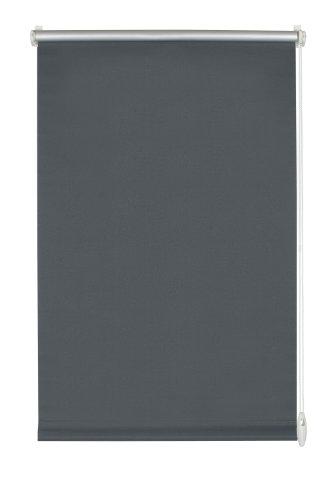 Gardinia 12546 Easyfix Rollo Thermo, für Fenster, 100 cm x 150 cm, schiefer