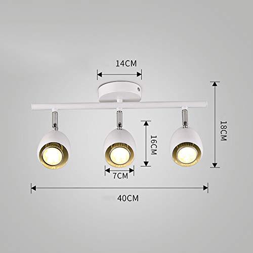ZJⓇ Spotlight Track Light - Wall Chandelier - 2 Colors (Black/White) - 2 Sizes (40/50cm) && (Color : White, Size : 7cm in Diameter) by ZJⓇ Spotlight (Image #1)