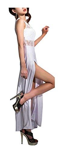 Evening CA Dress Party Women's Floral Lace Fashion Long White Maxi 4fw6BwR0q