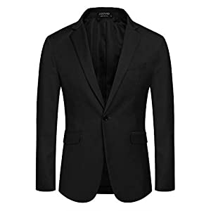 Best Epic Trends 31CyMdE3%2BcL._SS300_ COOFANDY Mens Business Suit Jackets Dress Blazer Party Jacket Sports Blazers (Black XL)