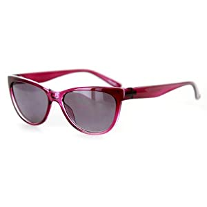 """Wayside"" Vintage-Inspired Full Reading Sunglasses (Purple w/ Smoke +3.00)"