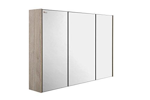 VALENZUELA Barcelona 32 Inch Medicine Cabinet Bathroom Vanity Mirror, Wall Mount, 3 Doors, Cloud Finish (VET1080802) by DAX