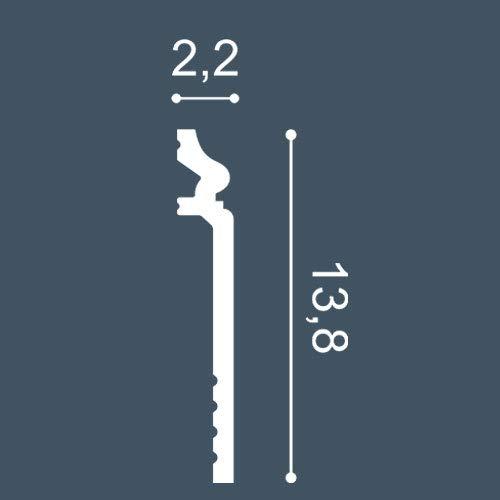 CAMPIONE di modanatura Battiscopa Lunghezza circa 10 cm 1 CAMPIONE S-SX186 Orac Decor LUXXUS