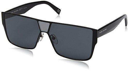Marc Jacobs Marc213s Polarized Rectangular Sunglasses, BLACK, 60 -