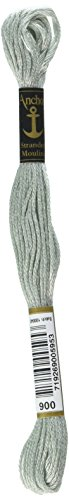(Anchor Six Strand Embroidery Floss 8.75 Yards-Pewter Light 12 per Box)