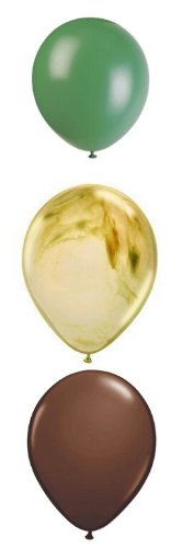 Camouflage Camo Party Supplies Latex Balloons 12 (Alligator Decorations)