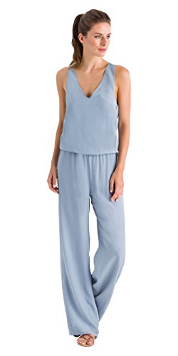 HANRO Women's Urban Casuals Jumpsuit, Sleet Blue, Medium