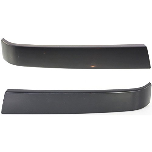 (Grille Molding for Chevrolet Silverado 1500 Classic 07 RH and LH Smooth Black Left and Right)