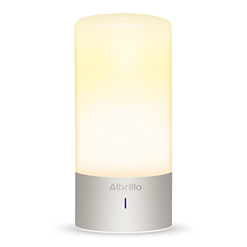 Albrillo Bedside Touch Lamp, Dimmable Nightstand Small Table Lamps With Warm White Light and Color Changing RGB Modes For Bedrooms by Albrillo