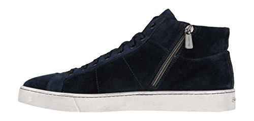 Santoni Sneaker Blå Ruskind 7uESxojK6