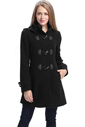 Duffle Coat Jacket - BGSD Women's Daisy Wool Blend Toggle Coat - XL Black