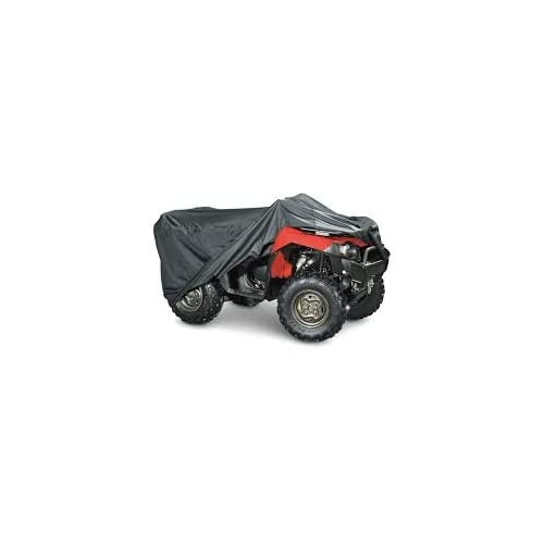 RECON POLARIS HEAVY DUTY WATERPROOF ATV COVER FITS UP TO 99 LENGTH SUPERIOR ATV COVERS 4-WHEELER 4X4 BLACK COLOR HONDA SUZUKI ATV COVER RANCHER YAMAHA FOURTRAX KAWASAKI FOREMAN
