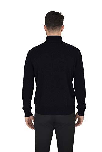 Cashmeren Men's Essential Knit Turtleneck Sweater Cashmere Wool Long Sleeve Roll Neck Pullover