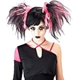 Gothic Cheerleader Wig Costume Accessory