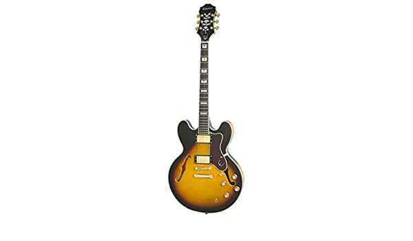 Epiphone Sheraton-II PRO - Guitarra eléctrica, color vintage sunburst: Amazon.es: Instrumentos musicales
