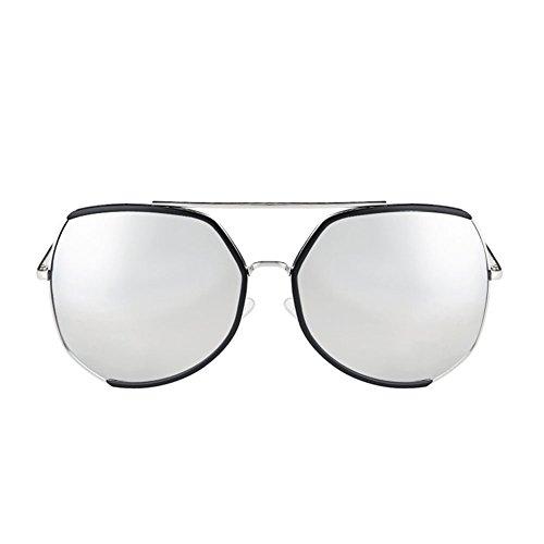 UV Larga Redonda DT Sol Sol de Femenina Gafas Protección Gafas de Cara Color de Cara de Grande Marco 1 q4qRPOZw