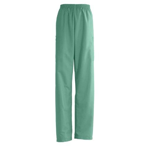 isex Elastic Waist Cargo Scrub Pant, Small, Jade Green (Medline Angelstat Ladies Elastic)